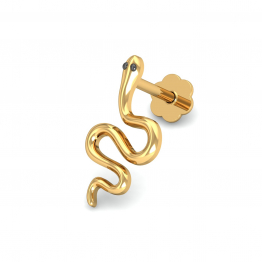 Serpentine Gold Nose Stud