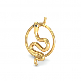 Serpentine Gold Nose Pin