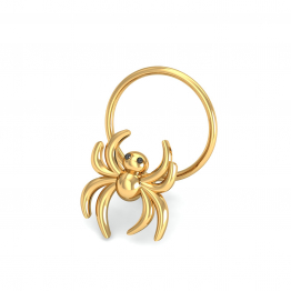 Spider Gold Nose Pin