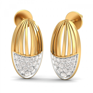 A Precious Cage Stud Earrings
