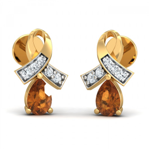 Attaché Citrine Stud Earrings