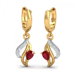 Chivalric Ruby Hoop Earrings