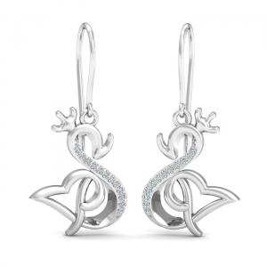Swan Kruna Hook Earrings