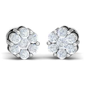 Lusture Solitaire Earrings
