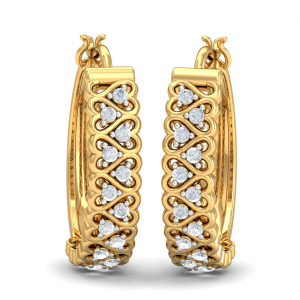 Elise Diamond Hoop Earrings