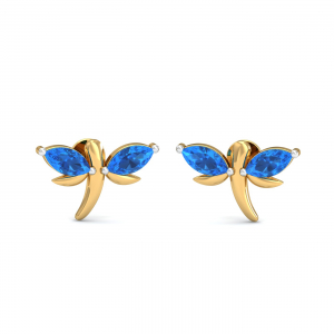 Blue Topaz Flutter Earrings