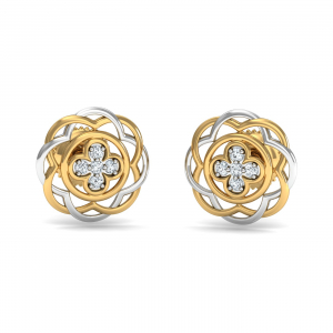 Ciliq Round Stud Earrings