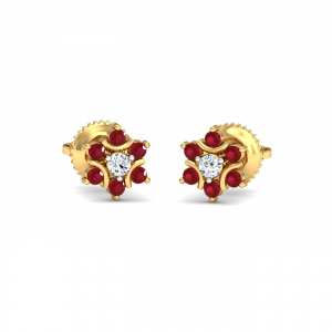 Klass Ruby Stud Earrings