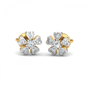 Cinquefoil Diamond Earrings