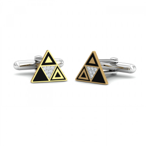 Tridzy Triangles Cufflinks