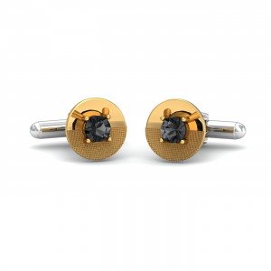 Textured Round Spinel Cufflinks