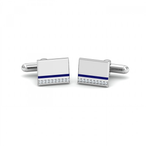 White Rectangular Cufflinks