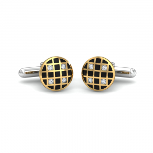Chequered Black Gold Cufflinks