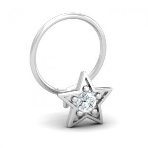 Star 0.06 Carat Nose Pin