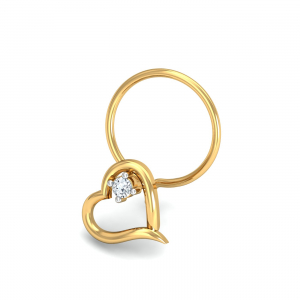 Keily Heart Nose Pin
