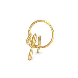Trident Gold Nose Pin