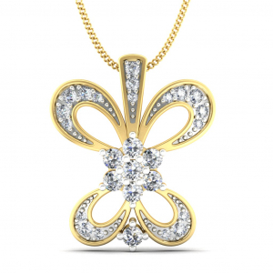 Adorned Butterfly Gold Pendant