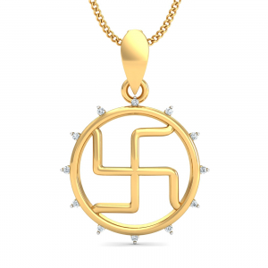 Enclosed Swastik Pendant