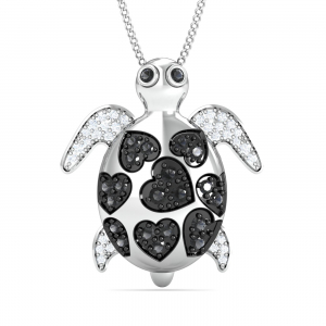 Tortoise Black Diamond Pendant