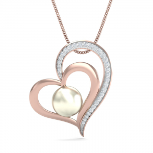 Simple Heart Pearl Pendant