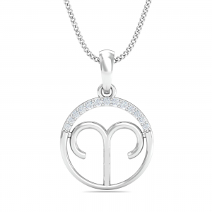 Aries Zodiac Gold Pendant