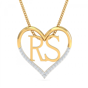 Couple's Initials Heart Pendant