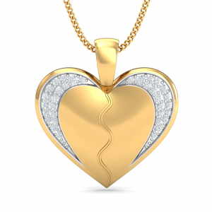 Detachable Couple's Heart Pendant