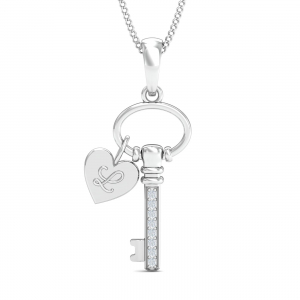 Pretty Lock & Key Pendant