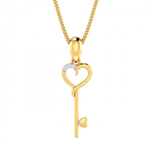 Key & Heart Pendant
