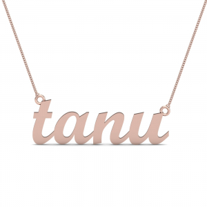 Tanu Gold Name Pendant