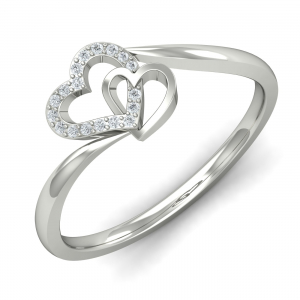 White Hearts Ring