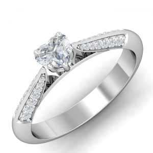 Ultimate Heart Solitaire Ring