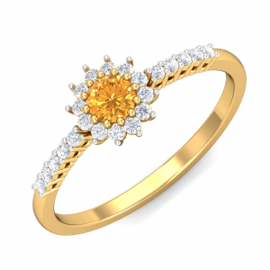 Glam Citrine Ring