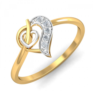 Dazzling Two-Heart Ring