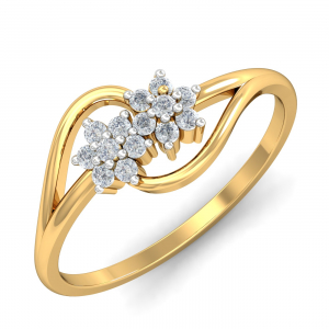 Traditional Twin Flower Ring
