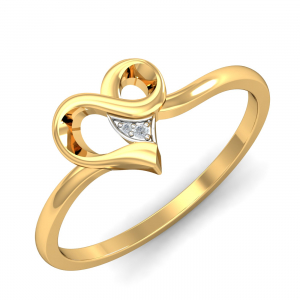 Curvilicious Heart Diamond Ring