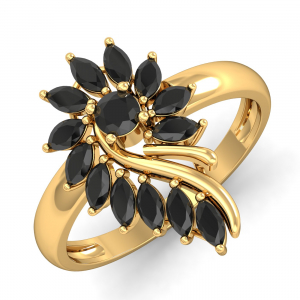 Valerie Black & Gold Ring
