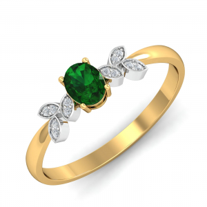 Allie Artistic Emerald Ring