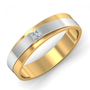 Happy Wedding Solitaire Band For Men