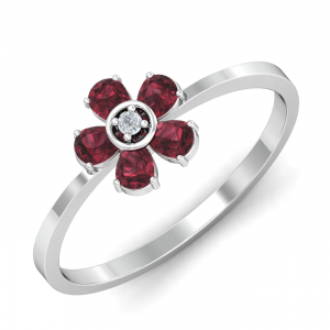 Gail Red Garnet Ring