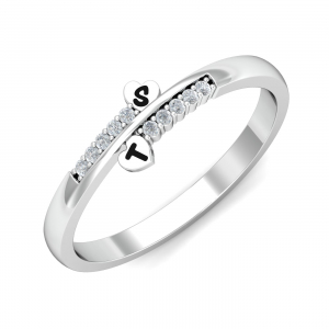 Personalized Initials Ring