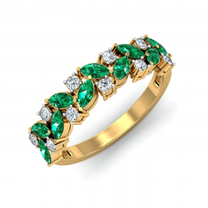 Vira Emerald Ring