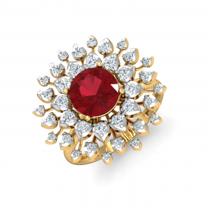 Kanak Red Cocktail Ring