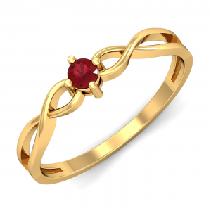 Eccentric Ruby Ring