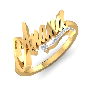 Anand Name Ring
