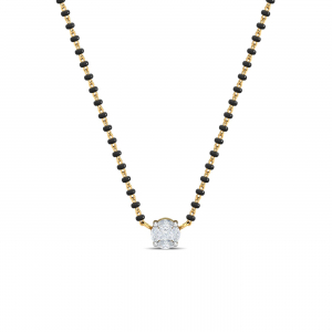 8 mm Solitaire Mangalsutra